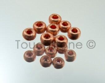 10/0 Czech Seed Beads Metallic Light Copper 20 Grams #229-1015