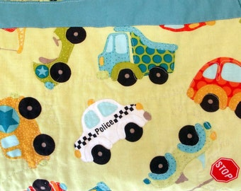 Quilt, Baby or Child's Blanket of Cars & Trucks