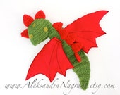 DRAGON BABY COSTUME with wings  - wool/acrylic/ felted fabric  - Made To Order