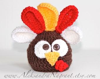 TURKEY Baby HAT - Photo Prop - Newborn - Baby - Thanksgiving Hat - Made To Order