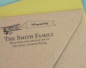 Custom return address stamp AVIATOR