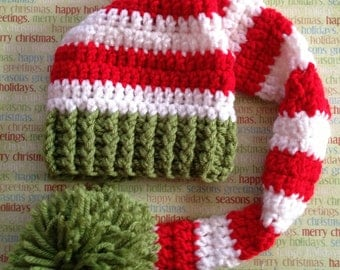 Crochet Christmas Stocking Hat