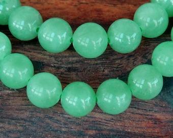 Green Aventurine Bead, 6mm Round - 15 inch Strand - eGR-AV001-6