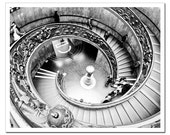 Sistine Chapel Staircase Photo, Vatican City, Black and white photography, 16x20