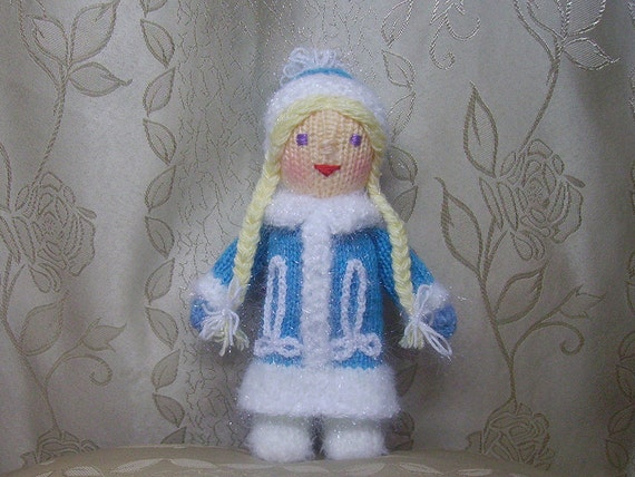 The knitted doll Snow Maiden - Reserved to RLJohnson29