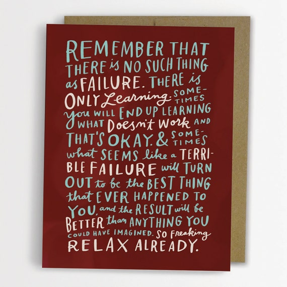 Thoughts On Failure Encouragement Card / No. 174-C