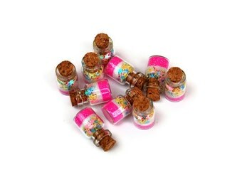 Fairy Party Favor Jars Pink and white with stars, Pixie Party, Princess, Glitter, Star Glitter