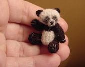 ORIGINAL PANDA bear ((made to order)) -artist Miniature(Thread)Doll house/crocheted collectible-OOAK