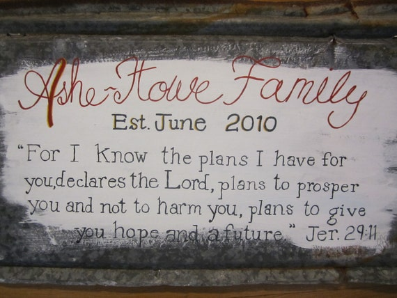 signs personalized tin  rustic Custom Sign Family Rustic Tin