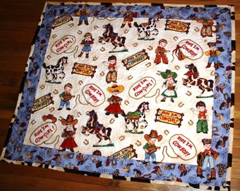 Kit for Western Paper Doll Play Quilt - Ride Em Cow Girl or Cow Boy