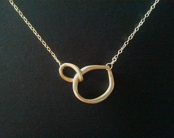 Infinity love  Circle Pendant,Statment necklace - wedding,Christmas necklace ,statement necklace