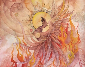 Phoenix Rising 10 pack Blank  Greeting Cards
