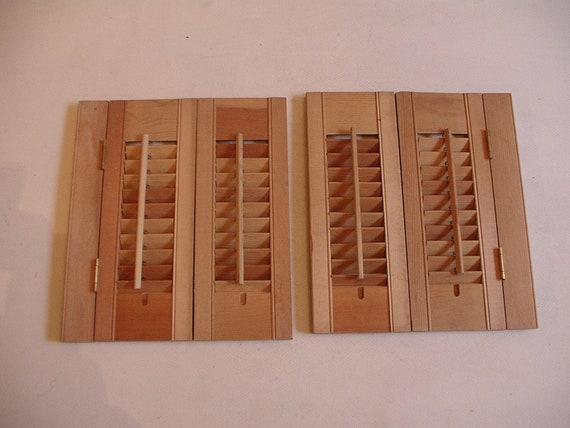 wood louvered shutters pre hinged interior 16 x