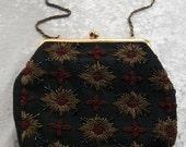 Beautiful 1950's beaded handbag