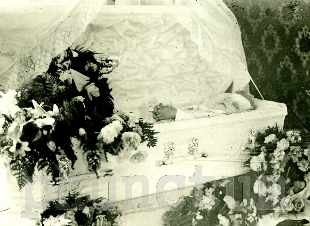 Postmortem Little Boy in Coffin RPPC Antique Post by phunctum
