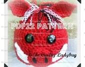 Razorback / hog / pig / warthog crochet hat pattern - PDF22 digital download