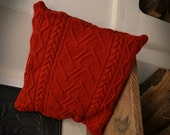 cushion handknitted pure wool