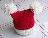 Newborn christmas hat- square santa hat- ready to ship christmas hat photo prop