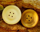 "2 Large Wood Buttons 4"" - Big Wooden Buttons - 4 Inch Buttons 2 Per Order"