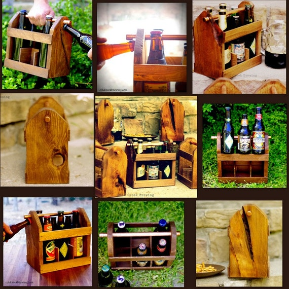 10 Six Pack Beer Carrier - Beer Bottle Carriers - Bottle Opener -Discount and Free Shipping- Beer - Homebrew - Gift for Groomsmen
