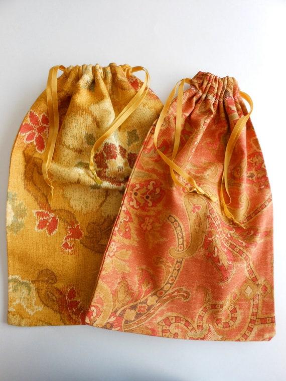 Set of 2 Cotton Shoe Bags