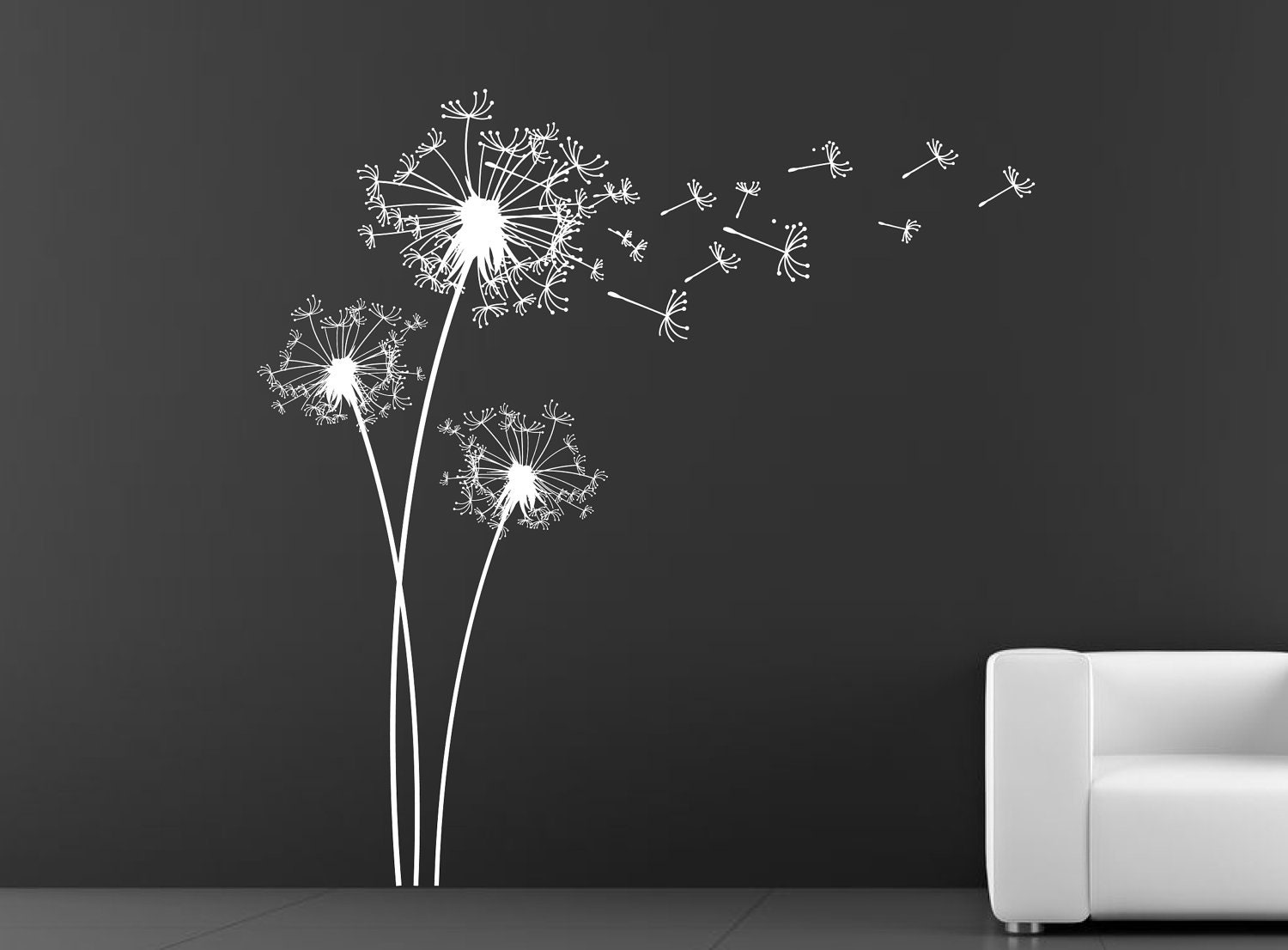Dandelion wall decal wall sticker by decoryourwall on etsy for Dandelion mural