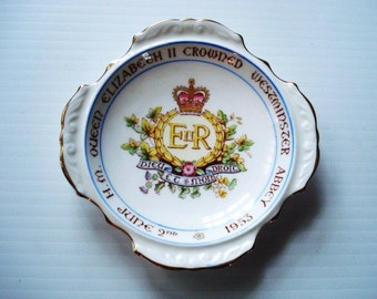 Vintage Royalty Collectible Royalty DISH by PARAGON To Commemorate Crowning of  Queen Elizabeth II