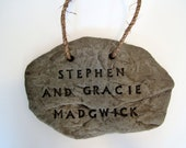 Custom Hanging Sign, Personalized Family Sign, Rock Sign, CHRISTMAS GIFT