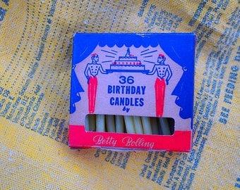 Vintage Birthday Candles in Original box