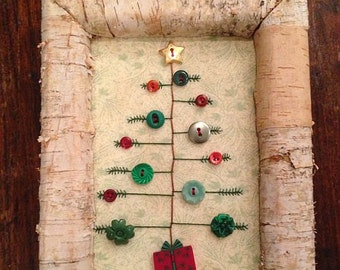 Primative Christmas Tree with Buttons