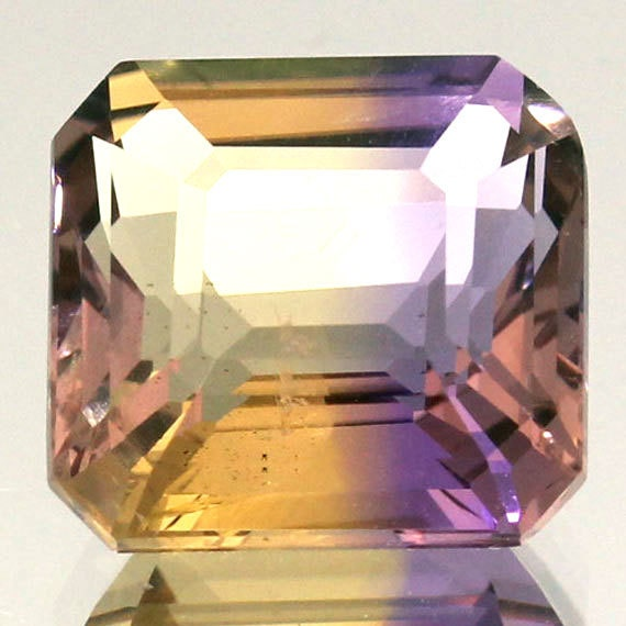 100% Natural 5.15 Ct.Faceted Gemstone Natural Ametrine Purple Yellow Octagon Handmade Gemstone
