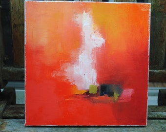 Original 12x12 abstract oil painting