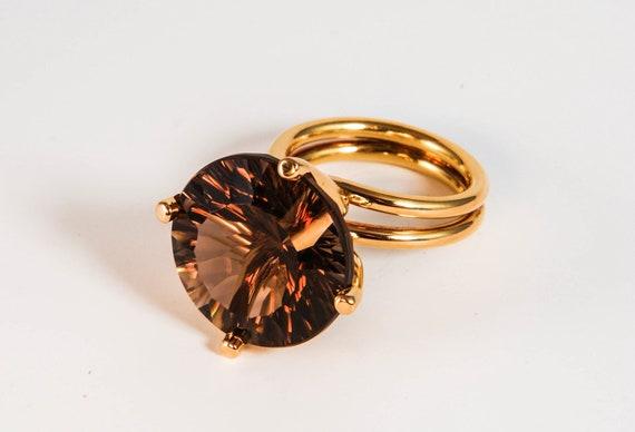 ring object with smokey quartz