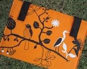 iPad - Tablet - Macbook - Laptop - Notebook - Case - Cover - Bag - Padded - Birds - Cotton - Felt