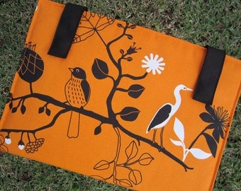 iPad - Tablet - Macbook - Laptop - Notebook - Case - Cover - Bag - Padded - Birds - Cotton - Felt