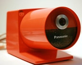 Panasonic Pana Point KP-22A Electric Pencil Sharpener Vintage Mod Orange - ThePencilPusher