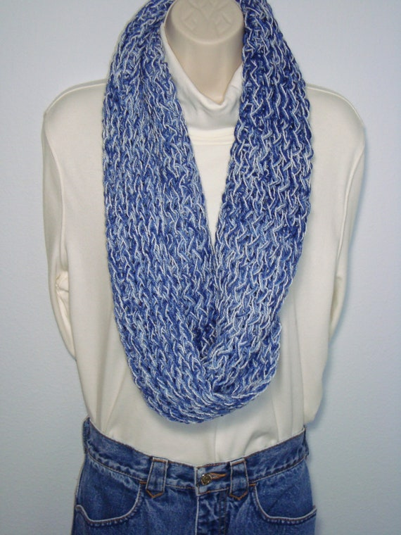 Knitting Patterns Circle Scarf Free : Loom Knitted Infinity Circle Scarf by 3BlueDogsAndMe on Etsy