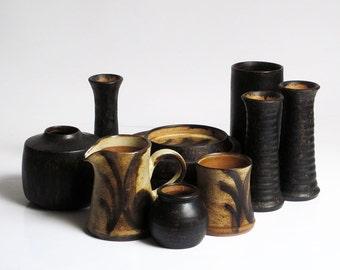Set of ceramic serving dishes by Lund Keramik (Denmark)