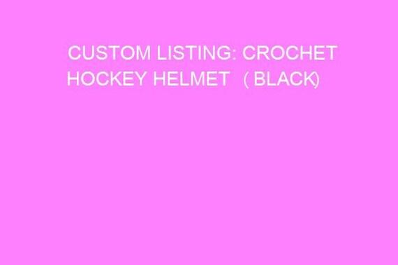 Crochet hockey helmet (solid black)