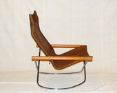 Mid Century Takeshi Nii NY Leather Rocking Chair End of Summer Sale Take 15% Off See Shop for Coupon Code