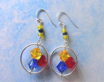 Steelers Swarovski Crystal Earrings