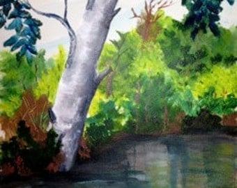 Afternoon Reflections - original acrylic -aoteam