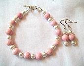 Pretty in Pink Bracelet & Earring Set