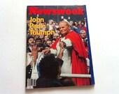 Vintage Newsweek Magazine, John Paul's Triumph, October 15, 1979, Vintage Magazine, 70's Magazine, Catholic, Religious