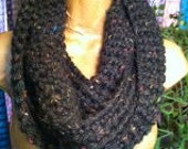 Fantastic Infinity Scarf Black w/Splashes of Color~ Free Shipping~ Made in Montana