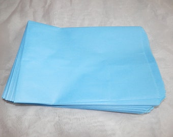 100 6x9 Sky Blue Paper Merchandise Bags, Party Bags,Favor Bags, Gift Bags,Gift Bags, Weddings,Colored Bags, Birthday, Craft Bags