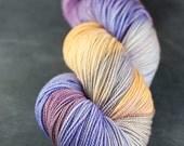 Hand dyed SW Merino fingering yarn- Jasmine