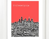 Philadelphia Skyline - Philly Art - Pennsylvania State Print - Philadelphia Poster - VERSION 3