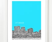 Orlando Skyline Poster - Orlando Florida Print - Orlando City Art - Orlando Gifts
