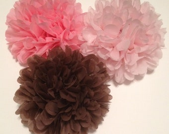 "10 Medium (12"") Tissue Paper Pom Poms - Birthday/Wedding/Baby Shower/Bridal Shower/Nursery"